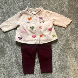 Gymboree/Carter's 6 month outfit bundle, sweater and skinny jeans.